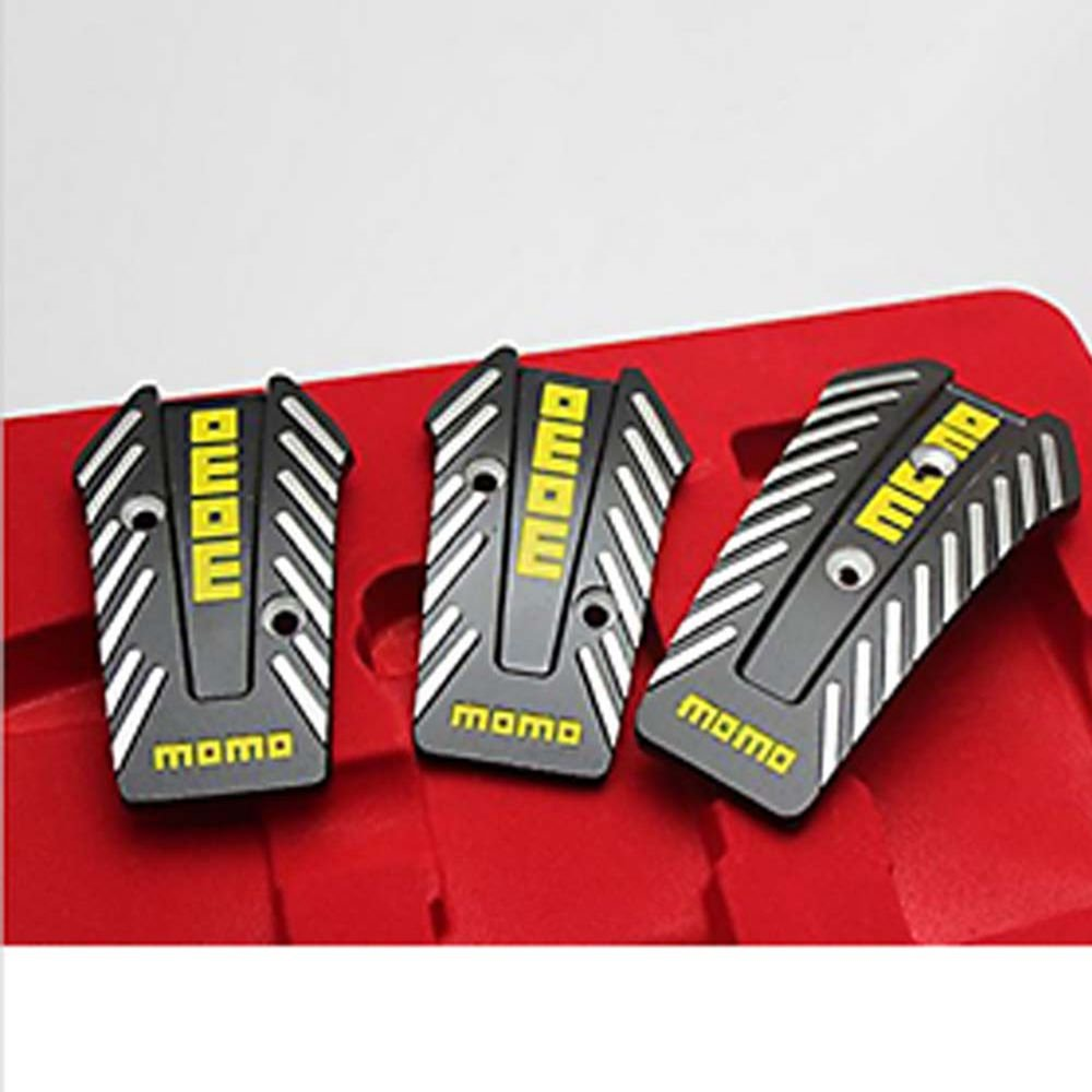 Ocamo Universal Manual Car Brake Pedal Foot Pedal Non Slip Sport Racing Pedals Silver