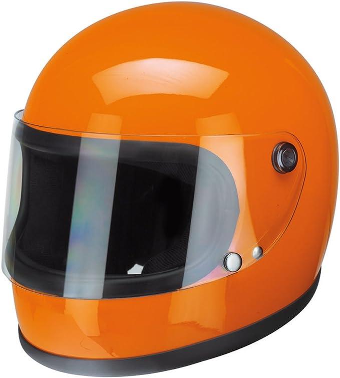 redbike 74 – Naranja Casco de Moto Casco Integral Retro Vintage Casco, 1, naranja, XL (61-62 cm): Amazon.es: Deportes y aire libre