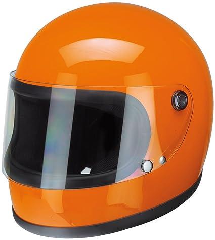 Redbike 74 – Naranja Casco de Moto Casco Integral Retro Vintage Casco, Naranja