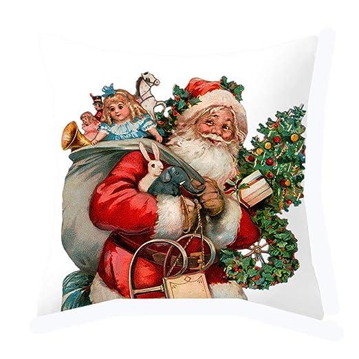 KFYOUXIN Cojin Navidad Almohada De Navidad Funda Cojín Única ...