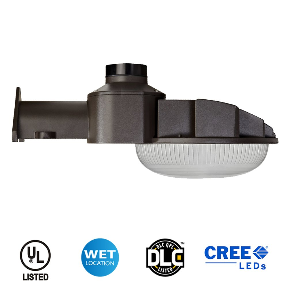 LED Dusk to Dawn Light - Bronze Finish - 70 Watt - 7000 Lumens - Perfect for use as an LED Yard Light, LED Barn Light or LED Security Light