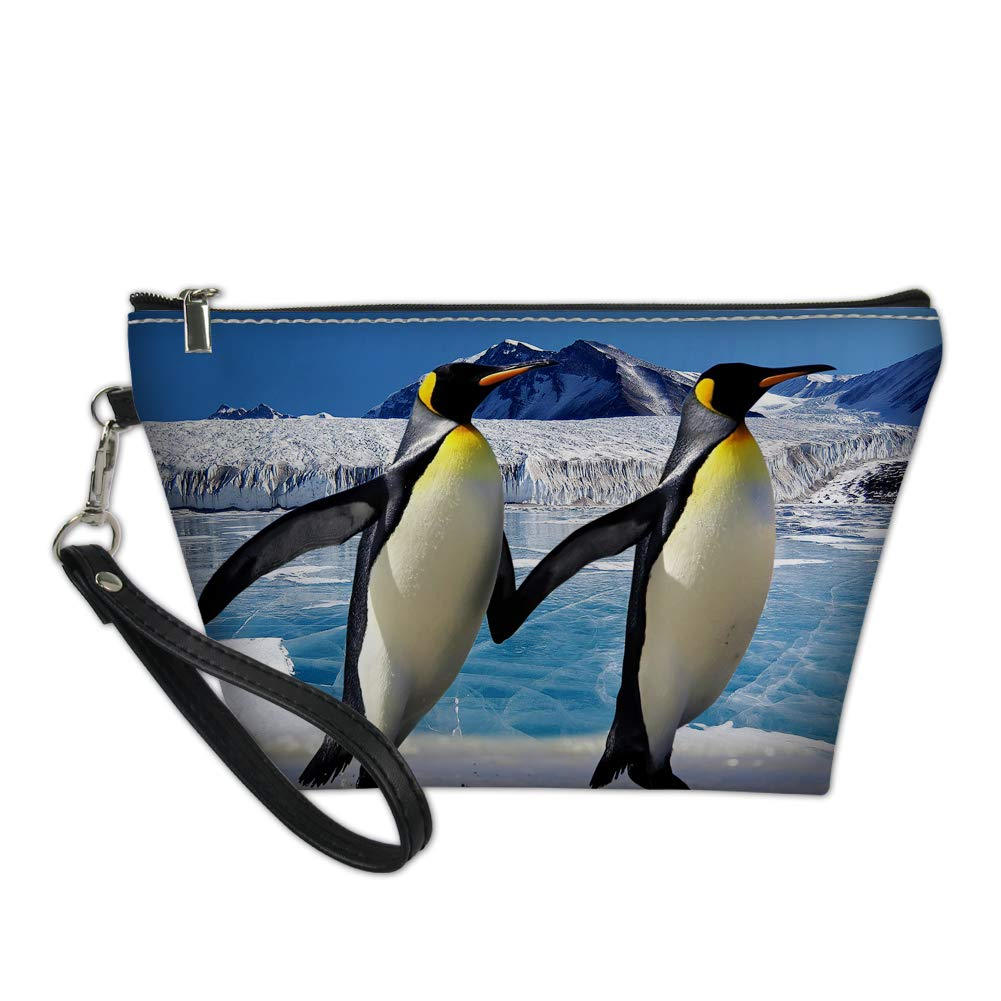 Showudesigns Penguin Makeup Bag Ladies Travel Cosmetic Case Pouch Toiletry Kit Storage Bag