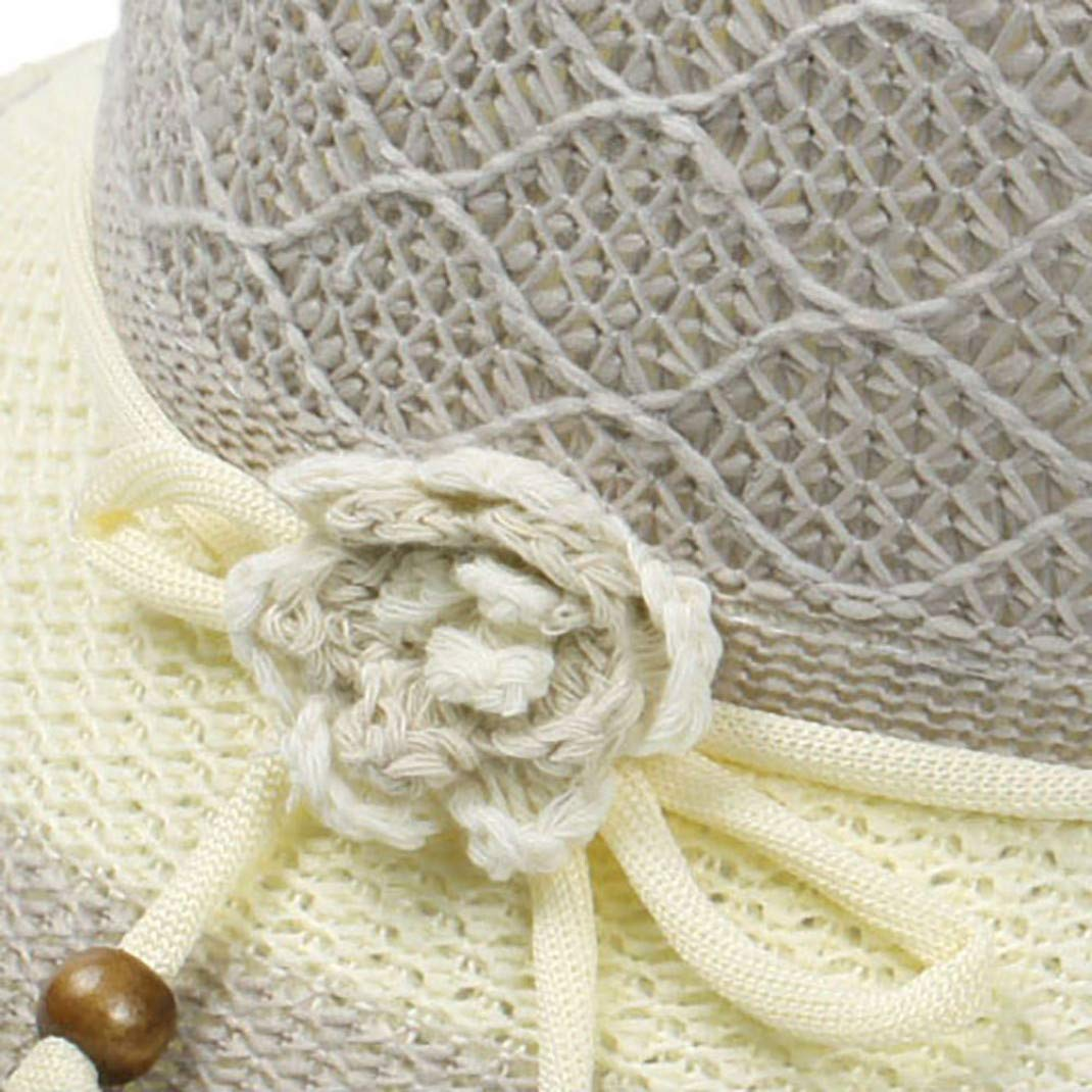 Summer Beach Sunhat Bucket Cap for UV Protection with Flower JHKSO Womens UPF50