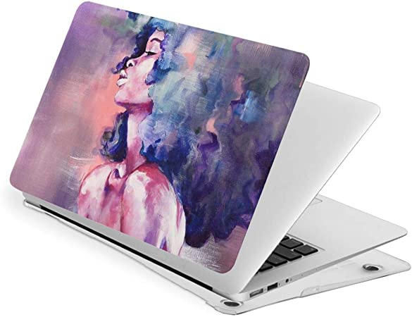 African American Women Laptop Case Dust-Proof Laptop Case Cover Durable Fully Protect Computer Plastic Case Hard Shell Cover Laptop Sleeve Case for touch13