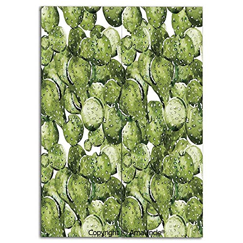 SCOXIXI Decoration Doorway Curtain for Room Separation,Cactus Petals Spikes Sun and Flowers in a Hot Mexican Desert Nature Beauty Art(33.5x59 Inches), Stop Wind and Dust,Used for Kitchen Apartment