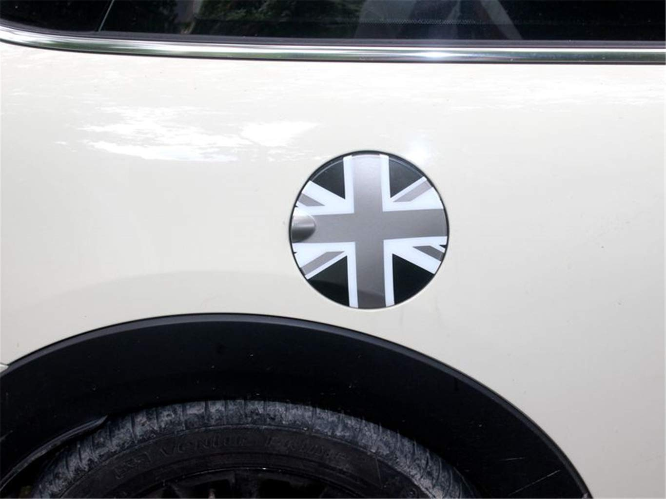 Black//Gray Union Jack UK Flag ABS Sticker Cover Trim Cap for Mini Cooper ONE S JCW R Series R60 Countryman R61 Paceman 2010-2016 Interior Door Handle + Storage Box Handle 5 Pieces