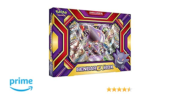 Pokemon TCG Card Game GENGAR EX BOX - 4 Booster Packs: Amazon.es: Juguetes y juegos