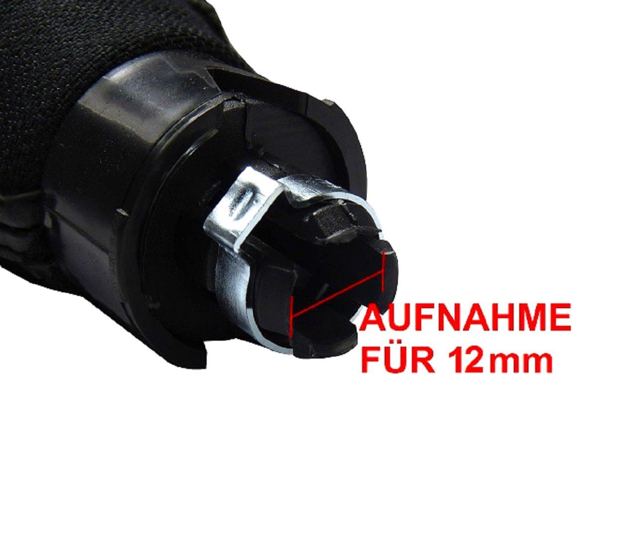 /4/Piel Piel perforado palanca de cambios Palanca Cambios en rojo y negro con 5/velocidades 12/mm Pomo como Plug Play para Notebook L /& P A260/