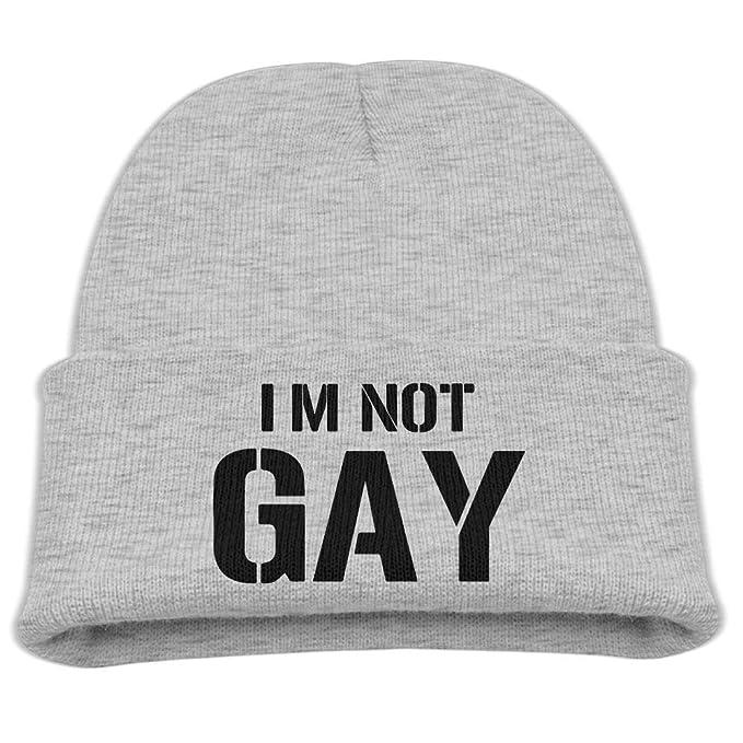Amazon.com: Banana King Im Not Gay Logo Gorro de bebé gorro ...