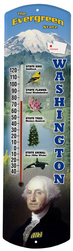 Heritage America by MORCO 375WA Washington Outdoor or Indoor Thermometer, 20-Inch