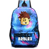Kids Roblox Backpack Student Bookbag Laptop Bag Travel Computer Bag for Boys Girls Teens Game Fans Gifts (A)
