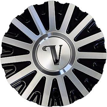 Velocity VW10 Black and Machined Center Cap CSVW10-1A Aluminum Velocity Wheels