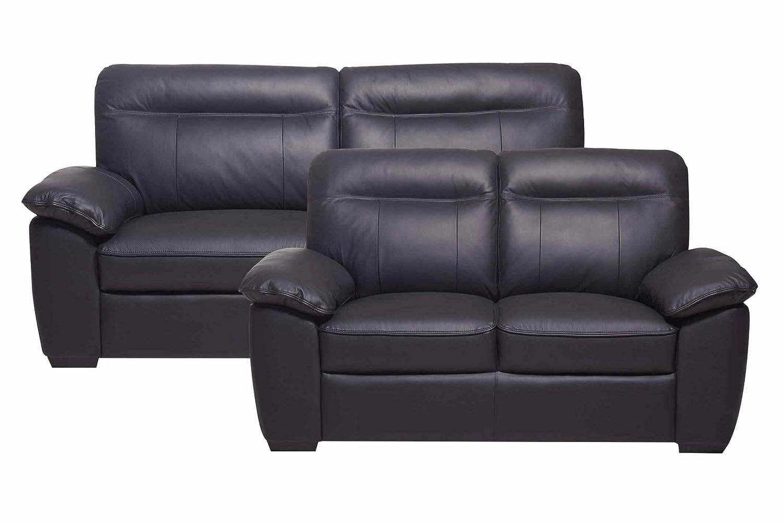 PKLine Sofagruppe ANOL in schwarz Sofa Garnitur Sitzgruppe Couch