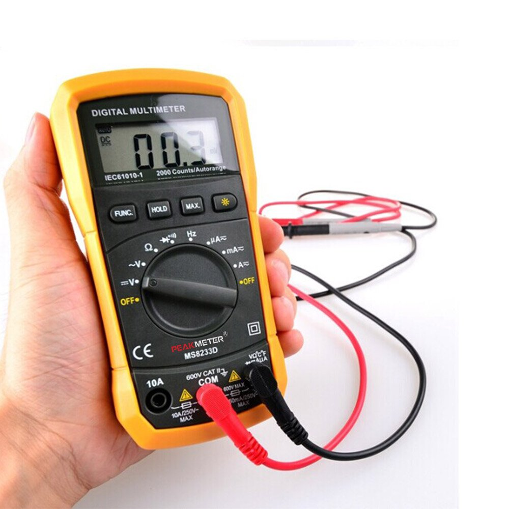 Galleon Protmex Ms8233d Auto Ranging Digital Multimeters Electronic Measuring Instrument Ac Voltage Detector Portable Amp Ohm Volt Test Meter Multi