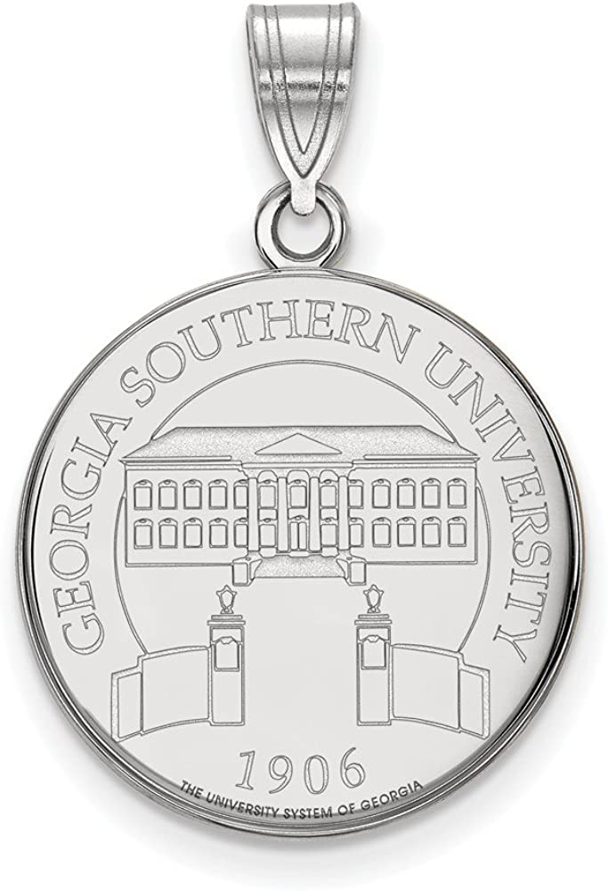 White Sterling Silver Charm Pendant Georgia NCAA Southern University 25 mm 18