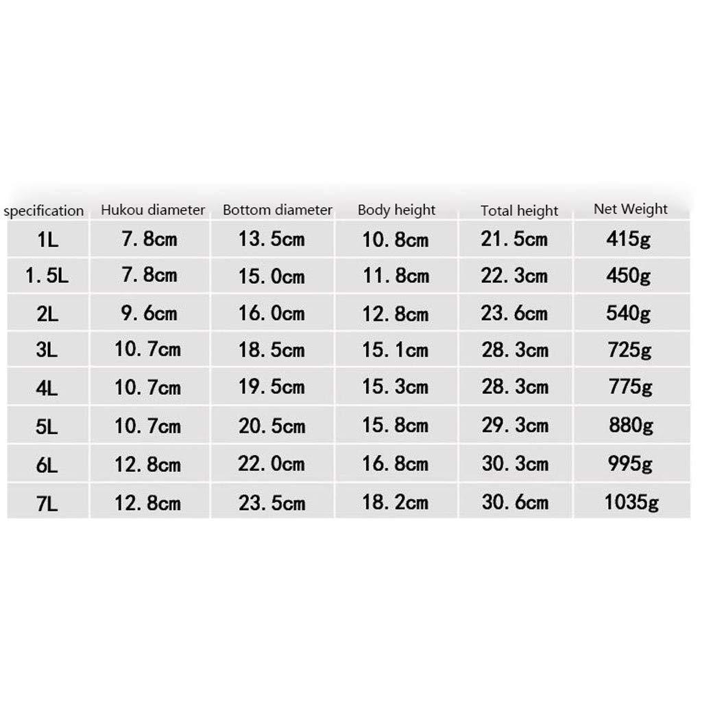 LGRGQ Qualit/é Alimentaire 304 gaz en Acier Inoxydable Bouilloire Poids l/éger Whistling Cuisini/ère /à Induction Bouilloire avec r/étro Traditionnel for HOB ou Spout Stove Top Color : Green, Size : 1L