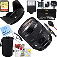 Sigma (576-954) 24-70mm F2.8 DG OS HSM Art Lens for Canon Mount + 64GB Ultimate Filter & Flash Photography Bundle