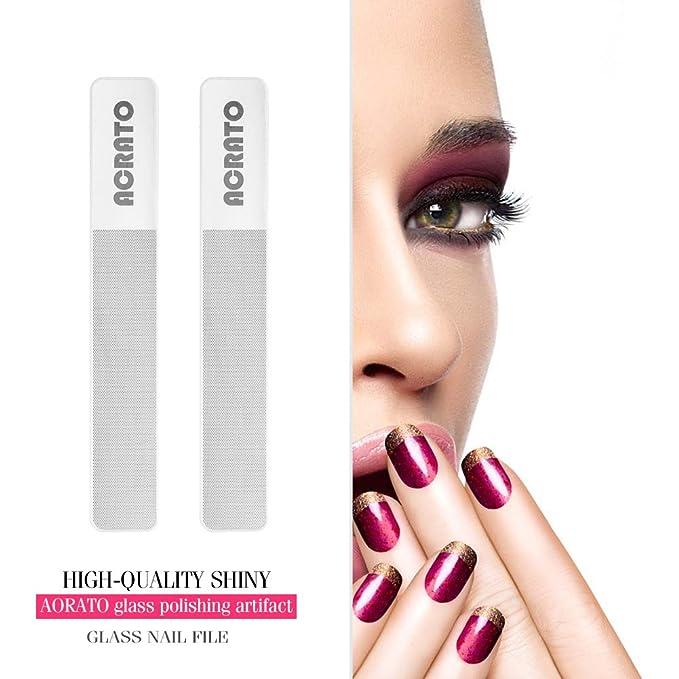 acrato Lima para pulir Lima de uñas Vidrio Uñas Lima de uñas con Nanotecnología para la perfecta Cuidado beuty de vidrio templado importado de Corea del ...
