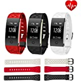 Fancy Cherry® Fitness Tracker S2 Hr Smart Watch Wasserdicht IP67 Sports Activity Tracker Schrittzähler Radfahren Kalorien Armband Call/SMS WHATSAPP Reminder für Samsung iPhone Android iOS Smartphone