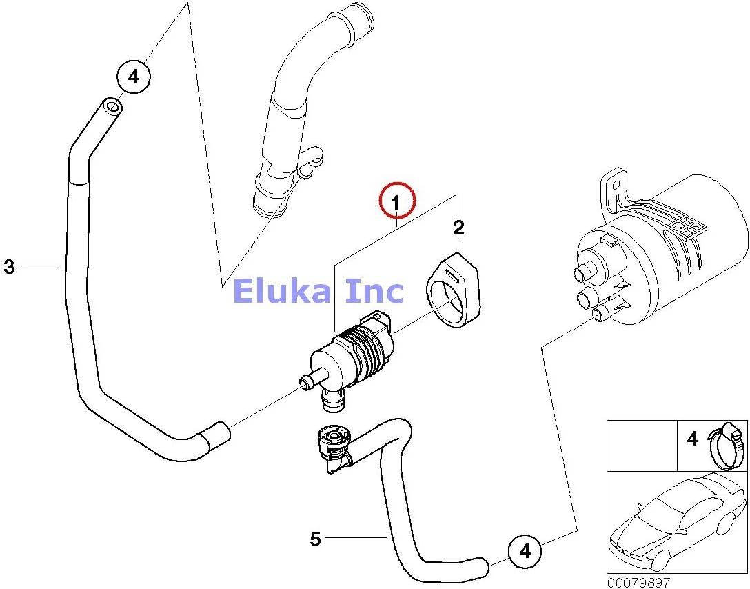 BMW 13-90-1-433-603 Geniune Fuel Tank Breather Valve:13999990