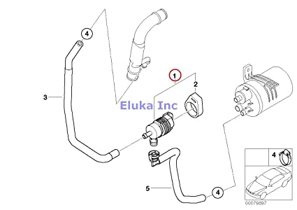 Amazon Com Bmw Genuine Fuel Tank Evaporator Vent Breather Purge