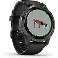 Garmin Vivoactive 4 - Reloj Inteligente con GPS y Funciones de Control de la Salud Durante Todo el día, Color Negro…