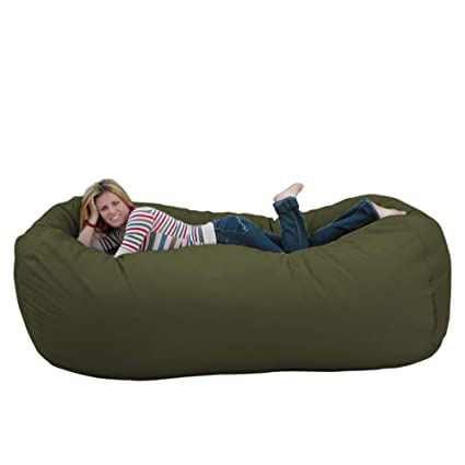 Fantastic Cozy Sack 8 Feet Bean Bag Chair X Large Olive Squirreltailoven Fun Painted Chair Ideas Images Squirreltailovenorg