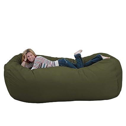 Superb Cozy Sack 8 Feet Bean Bag Chair X Large Olive Machost Co Dining Chair Design Ideas Machostcouk