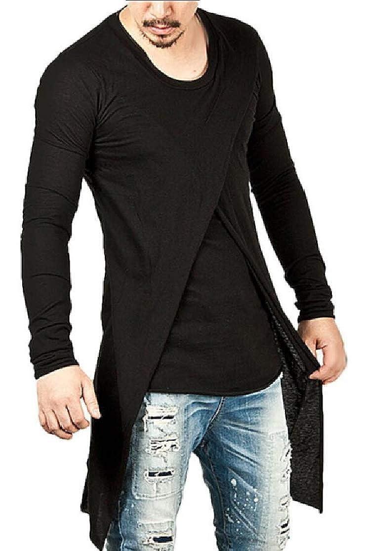 UNINUKOO Unko Mens Hipster Hip Hop Long Sleeve Jersey Tee Shirt Crewneck Tops
