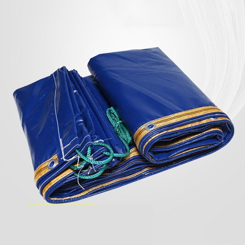 ZEMIN オーニング サンシェード ターポリン 防水 日焼け止め テント シート 防風 ルーフ 老化防止 絶縁 ポリエステル、 青、 400G/M²、 15サイズあり (色 : 青, サイズ さいず : 3X5M) B07D4FB43H 3X5M|青 青 3X5M