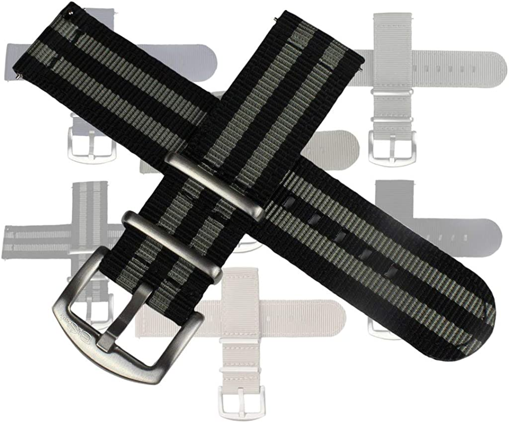 Kwik Change Nylon Watch Bands by BluShark (Multiple Sizes and Colors)
