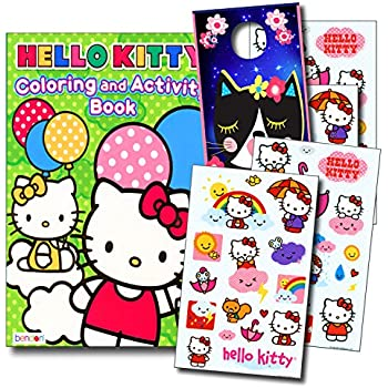 Hello Kitty Coloring Book And Stickers Super Set With Specialty Door Hanger