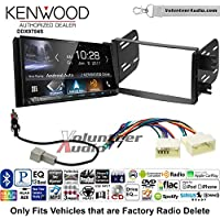 Volunteer Audio Kenwood DDX9704S Double Din Radio Install Kit with Apple Carplay Android Auto Fits 2012-2013 Hyundai Accent (Radio Delete Models)