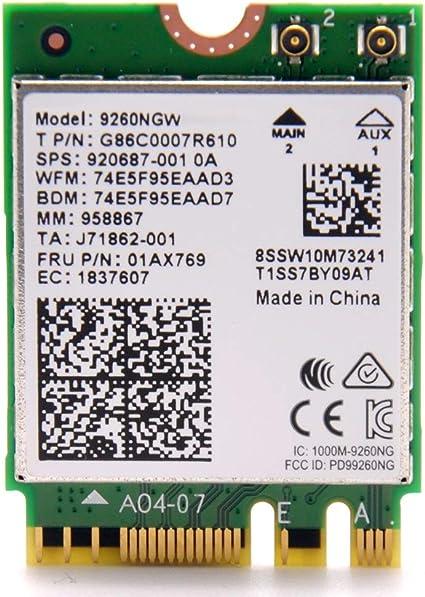Amazon.com: Intel Wireless-AC 9260, 2230, 2 x 2 AC + BT ...