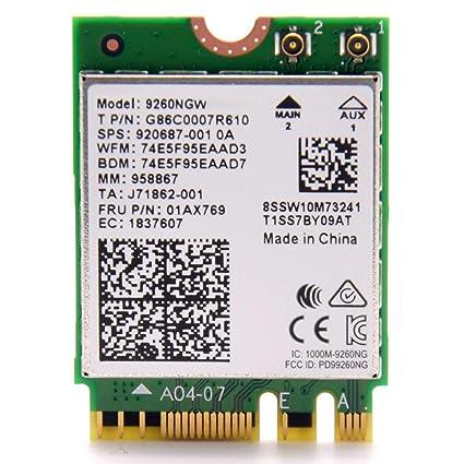 Intel Wireless-Ac 9260, 2230, 2X2 Ac+Bt, Gigabit, No Vpro