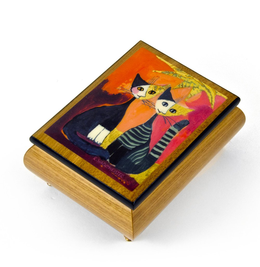 Handcrafted Italian Ercolano Musical Jewelry Box - ''Together'' By Rosina Wachtmeister - I Will Always Love You (Whitney Houston)