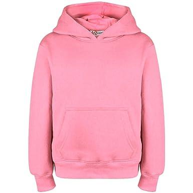 0112b1e6 A2Z 4 Kids® Kids Girls Boys Sweatshirt Tops Designer's Casual Plain Baby  Pink Pullover Sweatshirt Fleece Hooded Jumper Coats New Age 2 3 4 5 6 7 8 9  ...