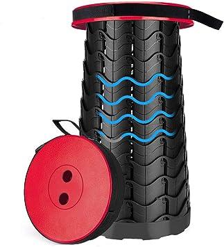 Negro 、 Rojo Clever Taburete Plegable De Altura Ajustable De 6.5CM-46CM para Ni/ños Y Adultos Taburete Plegable De Ba/ño De Jard/ín De Cocina overlookTW Taburete Plegable