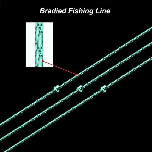 PE Braid 4//8 Strands Ligne de pêche Vert Foncé 6-300 LB Pêche Outil 100-1000 M