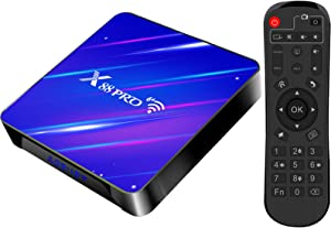 Android Tv Box 10.0, New Generation WiFi 6 with Router Function Dual WiFi D Bluetooth 4GB RAM 32GB ROM Very Fast BoxTop Box