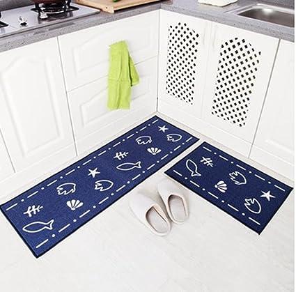 Amazon.com: The kitchen floor MATS strip antiskid suction machine ...