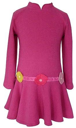 31454c1fabe40 Trocadero - Mode für Kinder - Robe - Uni - Manches Longues - Fille - rose