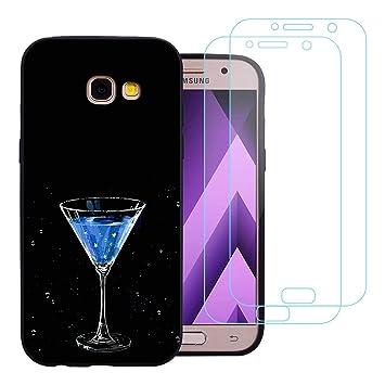 jrester Funda Samsung Galaxy A7 2017,Vino Flexible Suave Silicona ...