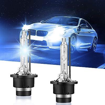 Carrep D2S/D2C 66240 Xenon HID Headlight Bulb 35W Replace for Philips or OSRAM Bulbs (10000K): Automotive