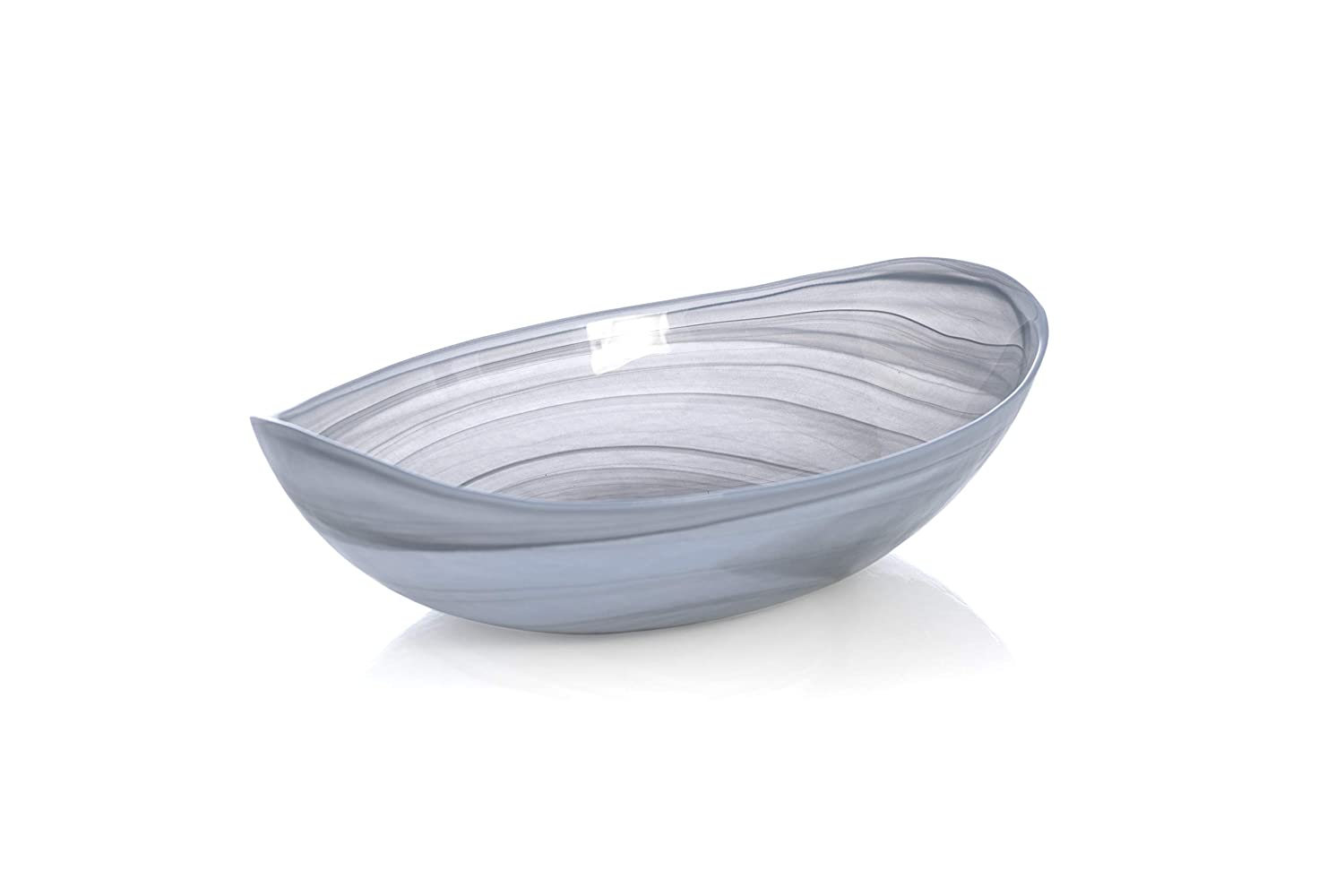 Shiraleah Home Large Polished Alabaster Oval Bowl, Stone