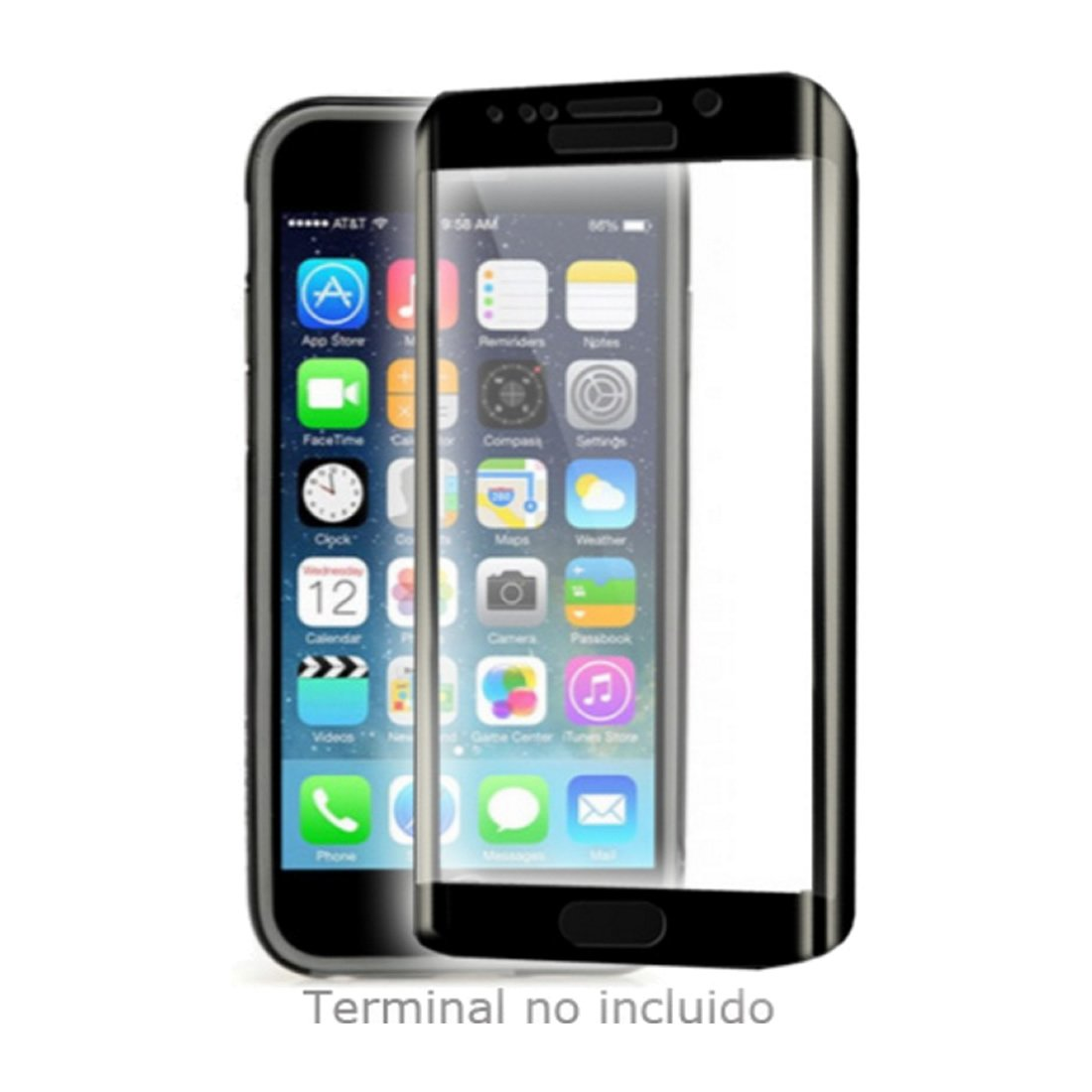 Diamond Edge 3D Szkło do Apple iPhone 6/6S Czarny: Amazon.es ...