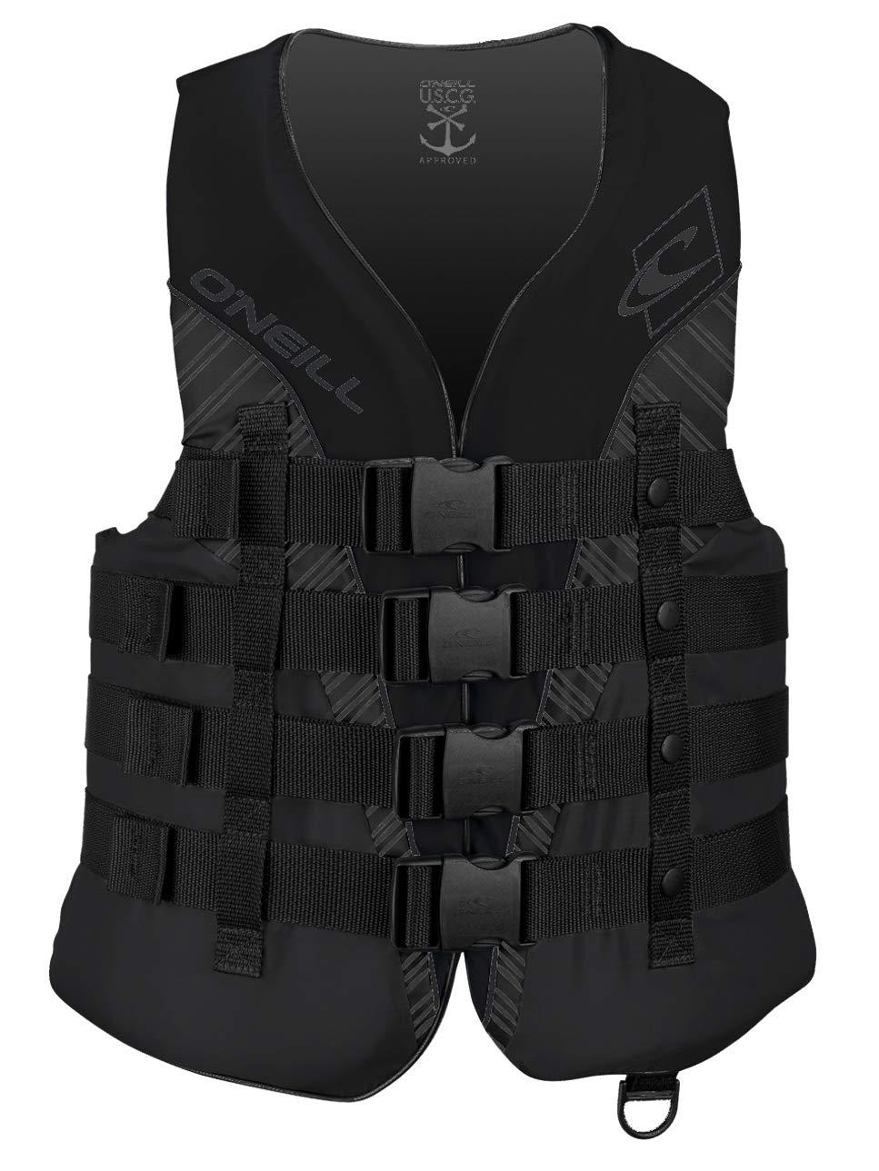 O'Neill Mens Superlite USCG Life Vest 3XL Black Stealth (4723)