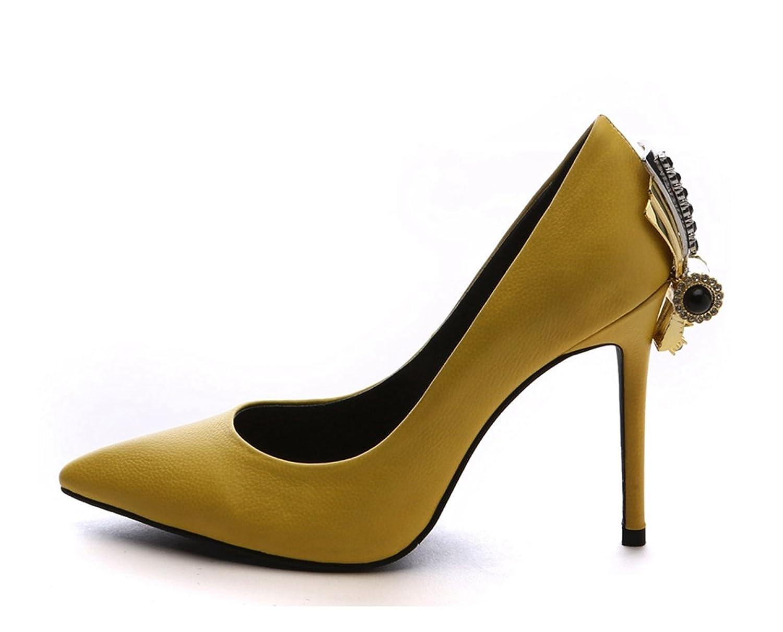 Miyoopark - Ballet mujer , color Amarillo, talla 35.5
