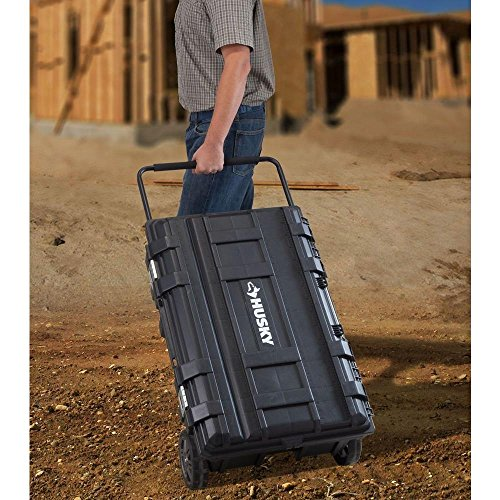 Mobile Storage Containers - Husky 25 gal. Mobile Utility Work Cart for Tool Storage, Black