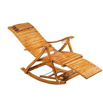 gao Silla de salón de bambú Silla Mecedora de bambú Silla ...